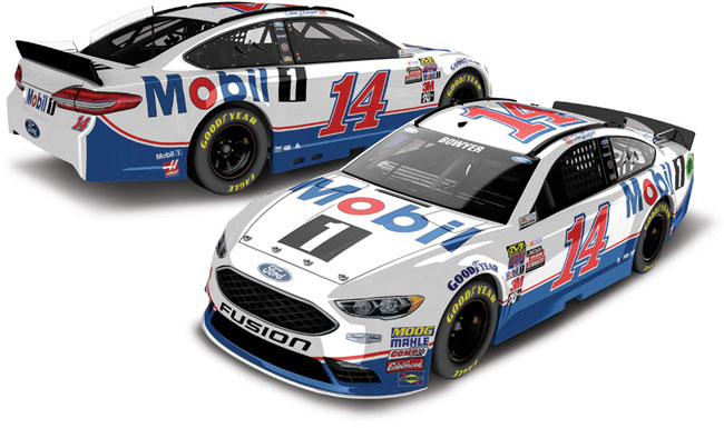 2017 Clint Bowyer 1/64th Mobil1 Pitstop Series car