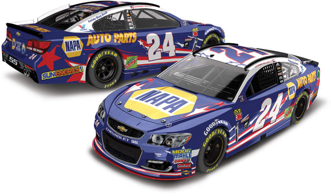 "2017 Chase Elliott 1/24th NAPA ""Patriotic"" car"