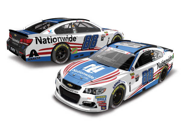 "2017 Dale Earnhardt Jr 1/64th Nationwide Insurance ""Patriotic"" Pitstop Series car"