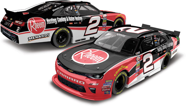 "2017 Austin Dillon 1/64th Rheem ""Xfinity Series"" Pitstop Series car"
