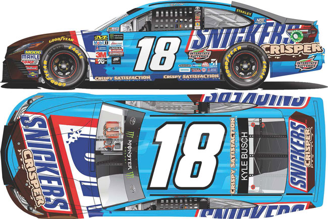 2017 Kyle Busch 1/64th Snickers Crisper Pitstop Series car