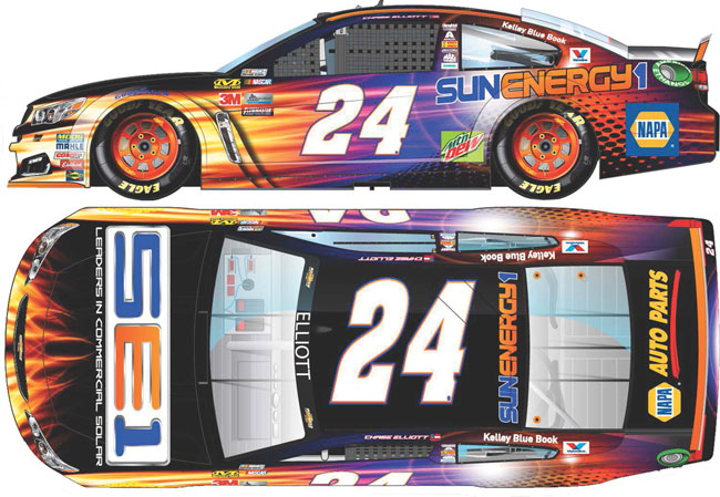 2017 Chase Elliott 1/24th SunEnergy1 car
