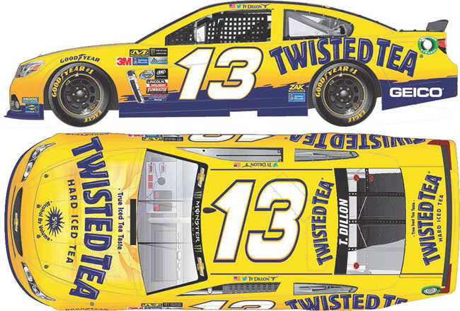 2017 Ty Dillon 1/64th Twisted Tea Pitstop Series car