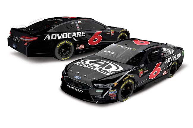 2018 Trevor Bayne 1/64th Advocare car