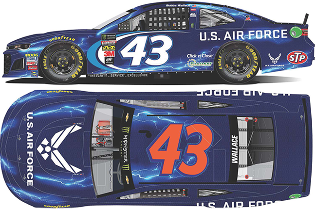 2018 Darrell Bubba Wallace 1/64th U.S. Air Force car