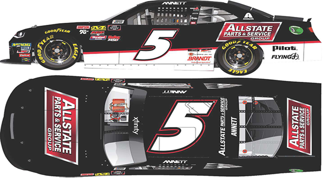 """2018 Michael Annett 164th Allstate Parts and Service """"Xfinity Series"""" car"""