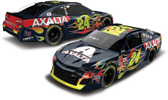 2018 William Bryon 1/24th Axalta hood open car
