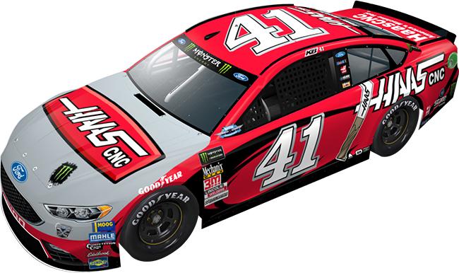 "2018 Kurt Busch 1/64th Haas Automation ""Darlington Throwback"" car"
