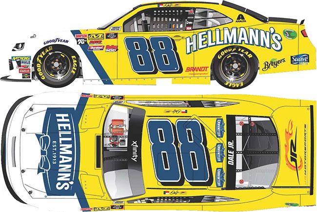 "2018 Dale Earnhardt Jr 1/64th Hellmann's ""Xfinity Series"" car"