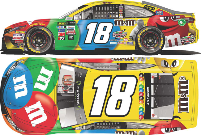 2018 Kyle Busch 1/24th M&M's Hood Open car