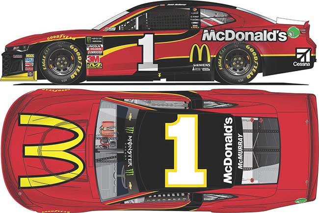 2018 Jamie McMurray 1/64th McDonald's car