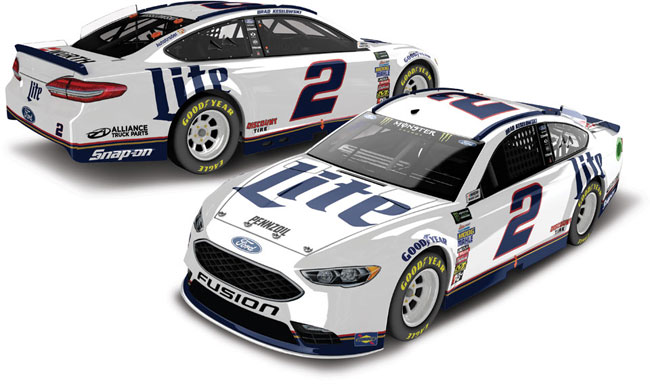 2018 Brad Keselowski 1/24th Miller Lite Hood Open car