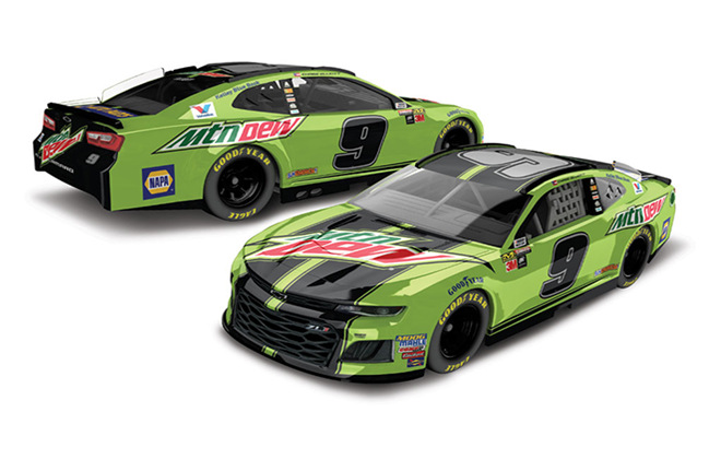 2018 Chase Elliott 1/64th Mountain Dew car