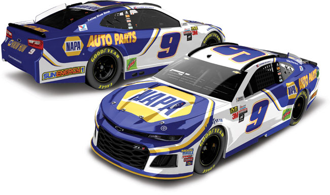 2018 Chase Elliott 1/24th NAPA hood open car