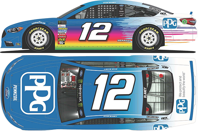 2018 Ryan Blaney 1/64th PPG Paints car