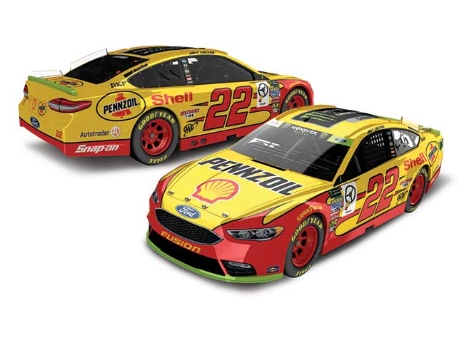 "2018 Joey Logano 1/24th Shell ""Monster Energy Champion"" Elite car"