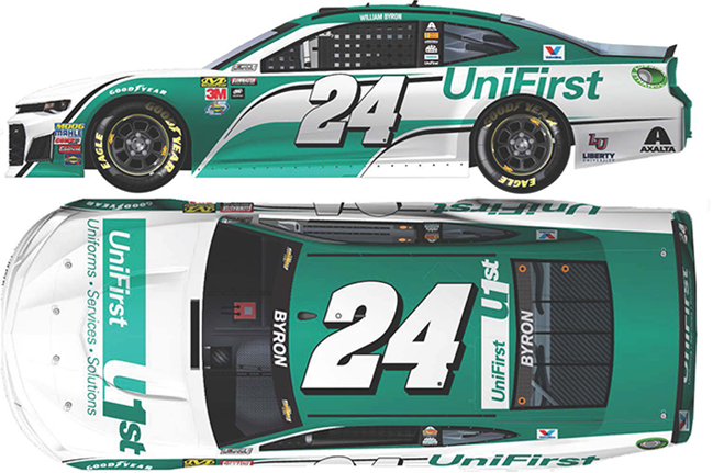 2018 William Bryon 1/64th UniFirst car