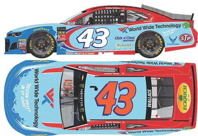 2018 Darrell Bubba Wallace 1/64th World Wide Technology car