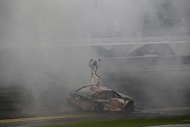 "2018 Eric Jones 1/24th buyatoyota.com ""Daytona 400 Win"" hood open car"