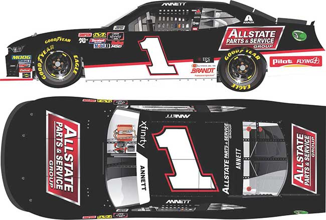 "2019 Michael Annett 1/64th Allstate Parts & Service ""Xfinity Series"" car"
