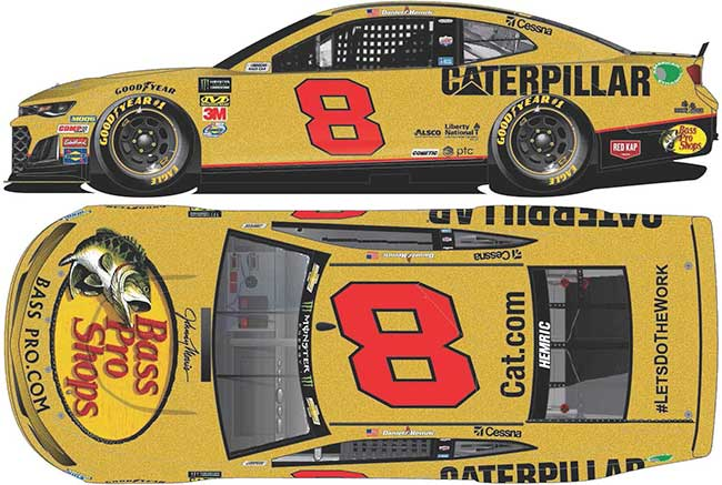 "2019 Daniel Hemric 1/64th Bass Pro/Caterpillar ""RCR 50th Ann"" car"