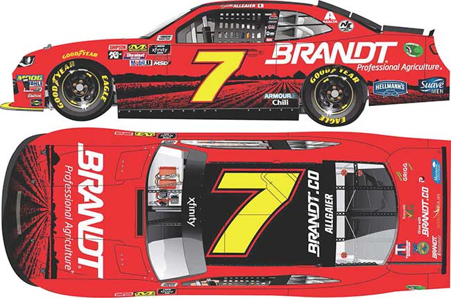 "2019 Justin Allgaier 1/64th Brandt ""Xfinity Series"" car"
