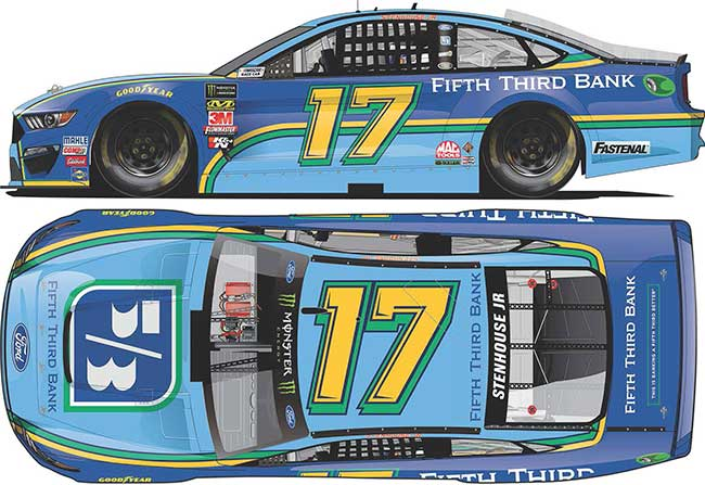 2019 Ricky Stenhouse Jr 1/64th Fifth Third Bank car