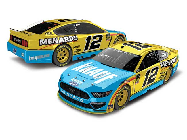 2019 Ryan Blaney 1/64th Knauf Insulation car