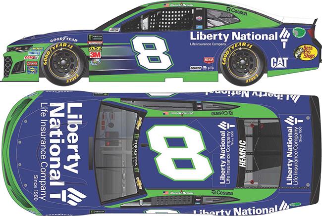 2019 Daniel Hemric 1/64th Liberty National car