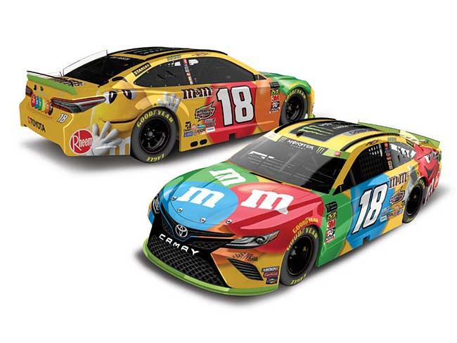 "2019 Kyle Busch 1/24th M&Ms ""Monster Energy Champion"" hood open car"