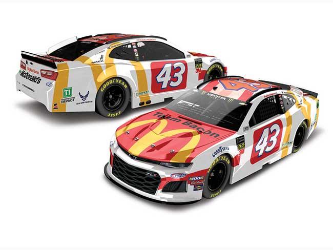 """2019 Darrell Bubba Wallace 1/64th McDonald's """"Team Bacon"""" car"""