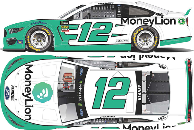 2019 Ryan Blaney 1/64th Money Lion car