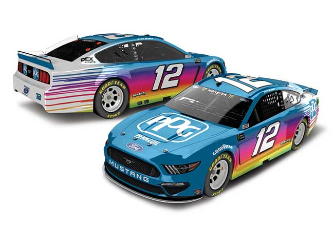 2019 Ryan Blaney 1/24th PPG hood open car
