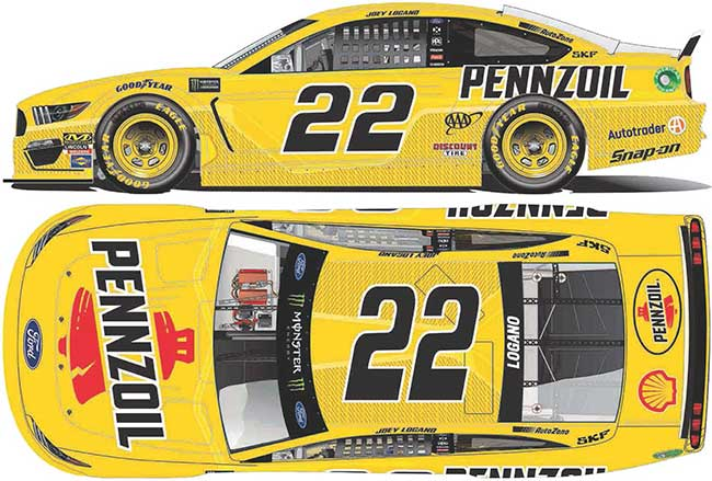 2019 Joey Logano 1/64th Pennzoil car