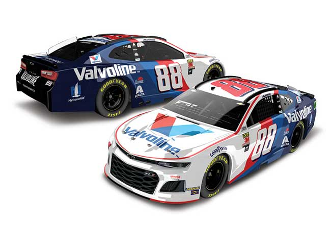 2019 Alex Bowman 1/64th Valvoline car