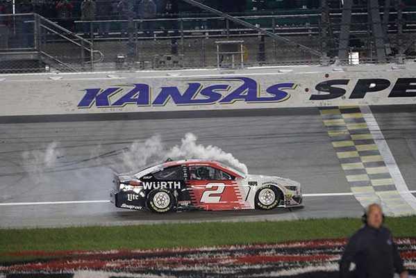 "2019 Brad Keselowski 1/24th Wurth ""Kansas Win"" hood open car"