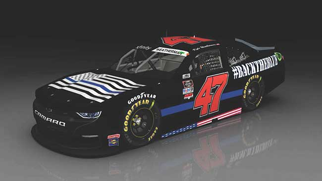 2020 Kyle Weatherman 1/24th Back The Blue hood open car