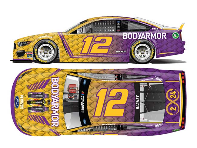 "2020 Ryan Blaney 1/64th BodyArmor ""Tribute"" car"