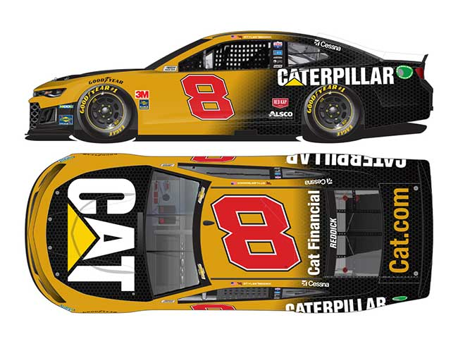 2020 Tyler Reddick 1/64th Caterpillar car