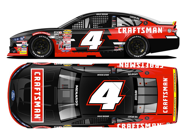 "2020 Hailie Deegan 1/24th Craftsman ""ARCA"" hood open car"