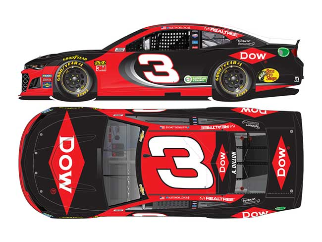 2020 Austin Dillon 1/64th DOW car