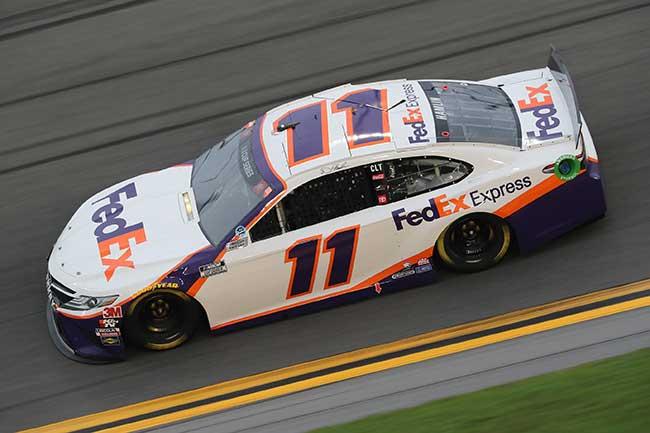 "2020 Denny Hamlin 1/24th Fed Ex Express ""Daytona Win"" hood open car"