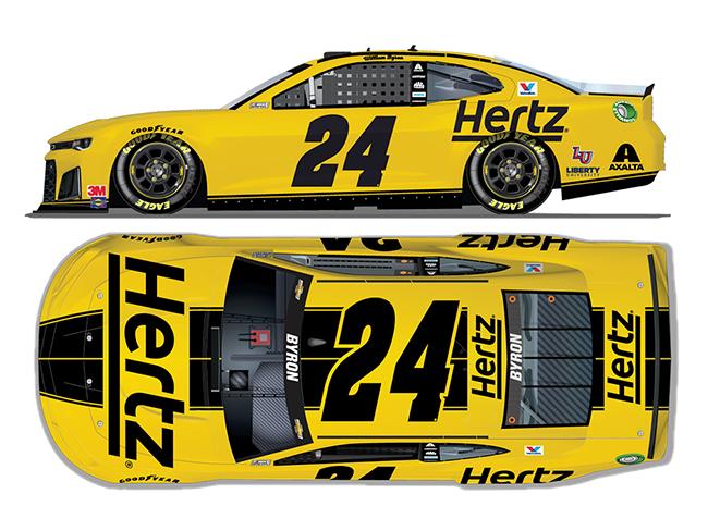 2020 William Byron 1/64th Hertz car