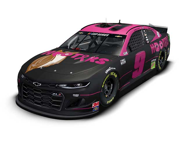 """2020 Chase Elliott 1/64th Hooters """"Give A Hoot"""" car"""