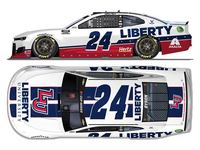 "2020 William Byron 1/64th Liberty U ""Darlington Throwback"" car"