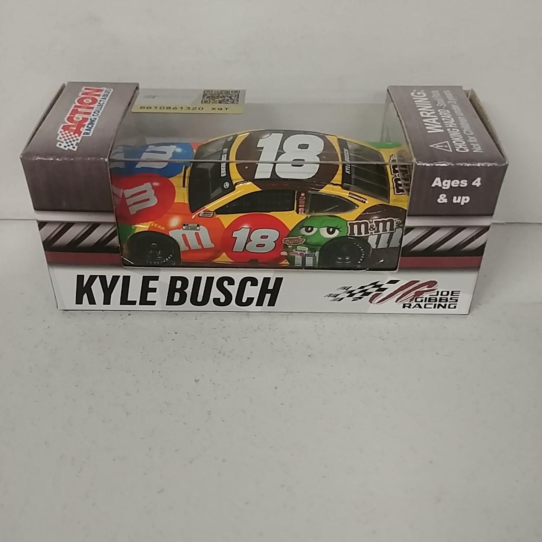 """2020 Kyle Busch 1/64th M&M's """"Darlington Throwback""""  car"""