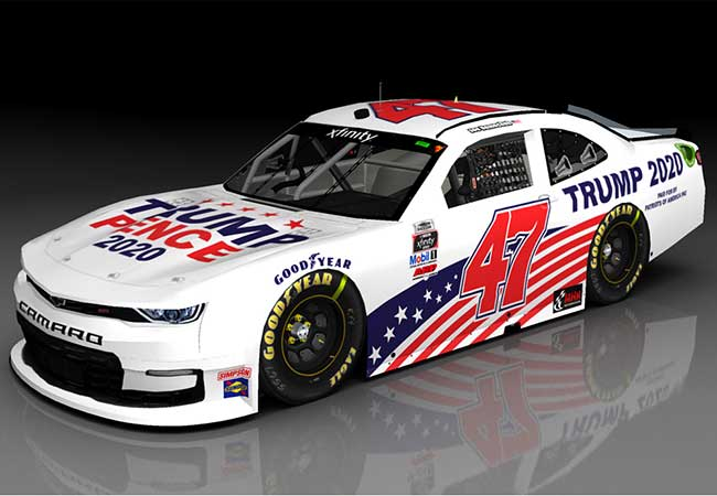 "2020 Joe Nemenchek 1/64th Trump-Pence 2020 ""Xfinity Series"" car"