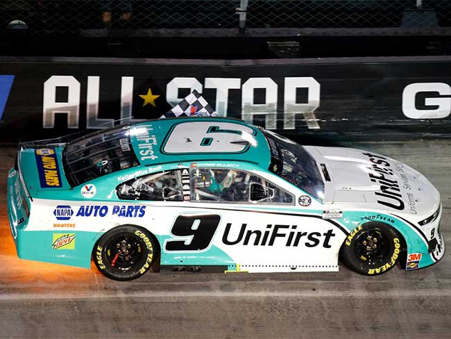 "2020 Chase Elliott 1/24th UniFirst ""All Star Win"" hood open car"