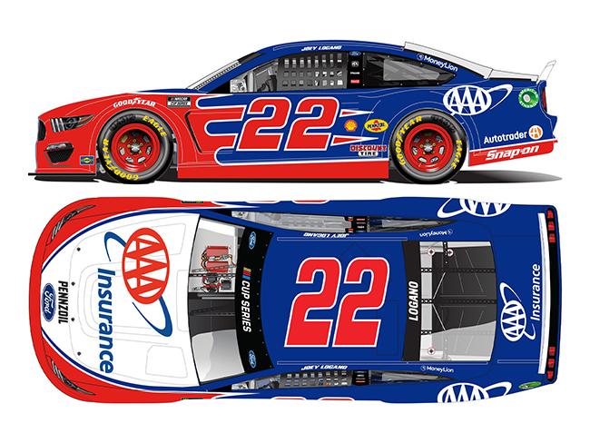 2021 Joey Logano 1/64th  AAA Insurance car