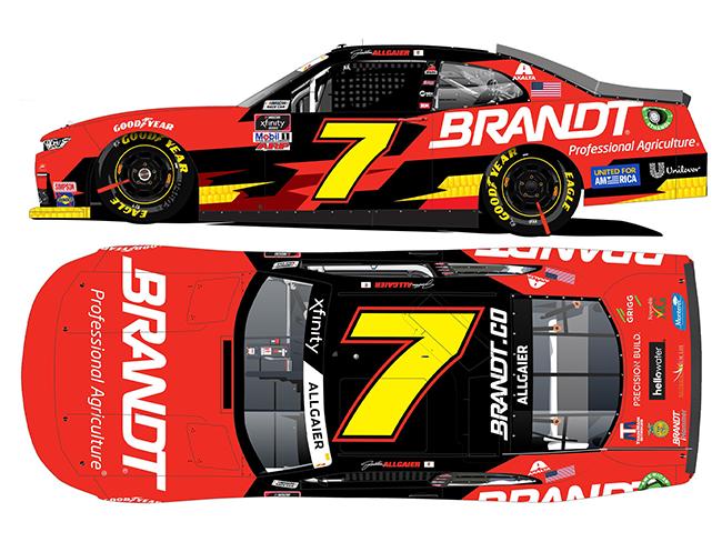 "2021 Justin Allgaier 1/64th Brandt ""Xfinity Series"" car"